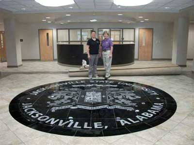 Jacksonville State University China Black Granite Mural