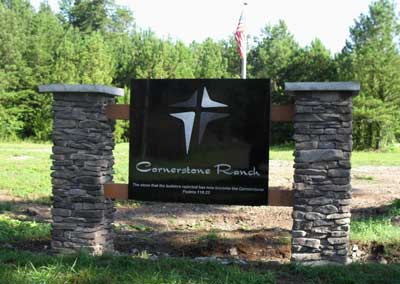 China Black Granite sign for Cornerstone Ranch