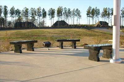 North Jefferson Middle School China black granite benches